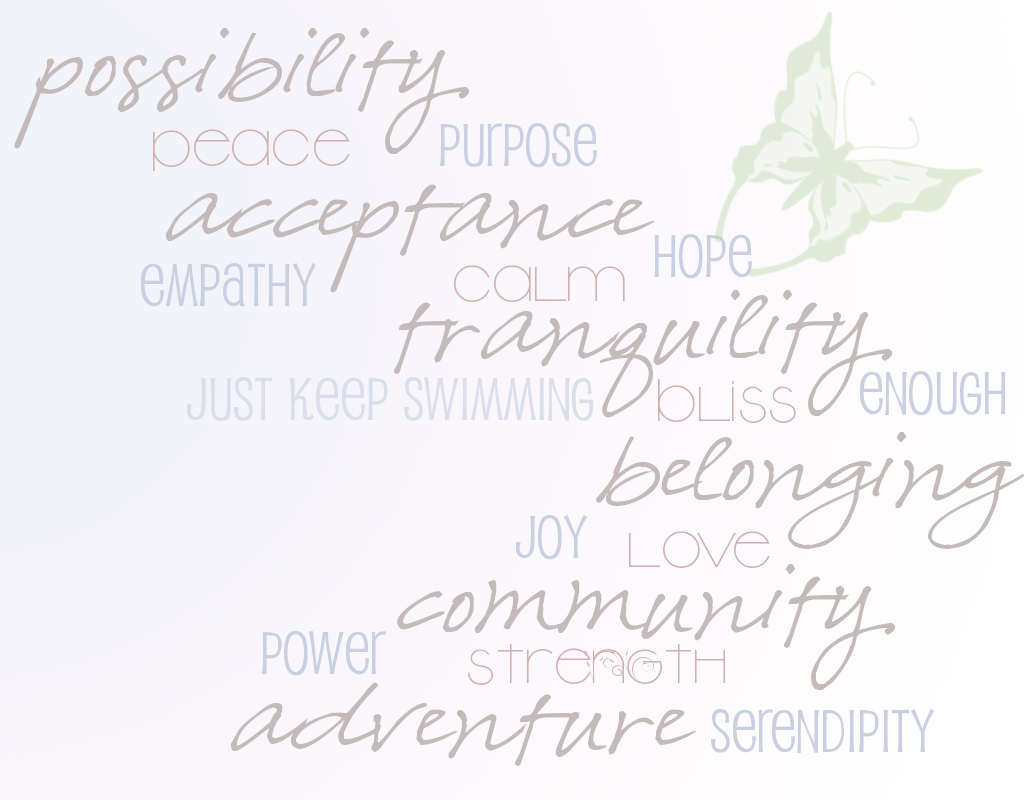original graphic art by Lauren Hale based on #PPDChat positive words from 10.31.11