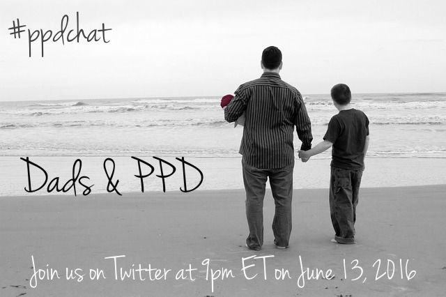 Join us at 9pm ET on Twitter for a chat about Dads & PPD