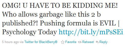 Formula Pushing Tweet